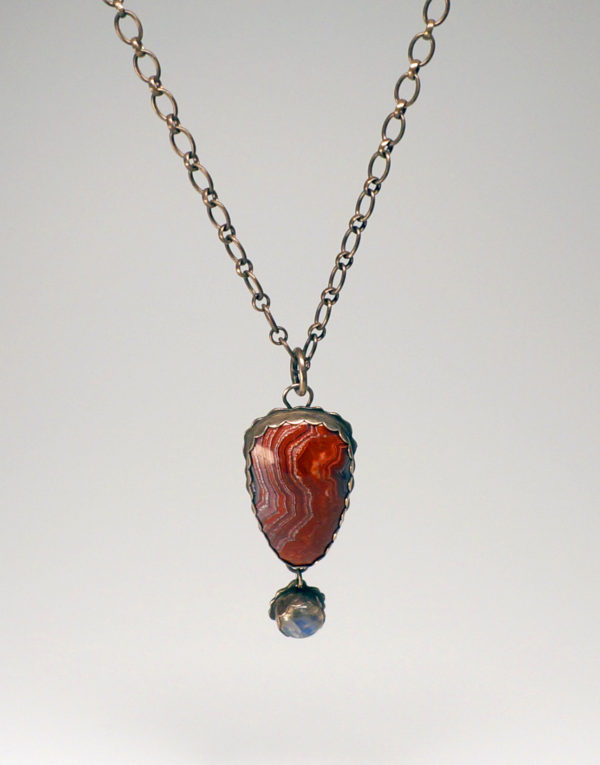 Jasper and Labradorite Pendant